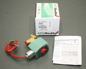 Asco Red Hat Brass Solenoid Valve 8262h232 120v Ac 1 4 Npt Normally Closed