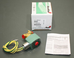 Asco Red Hat Brass Solenoid Valve 8262h020 24v Dc 1 4 Npt Normally Closed