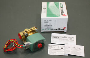 Asco Red Hat Brass Solenoid Valve 8210g007 120v Ac 3 8 Npt Normally Closed