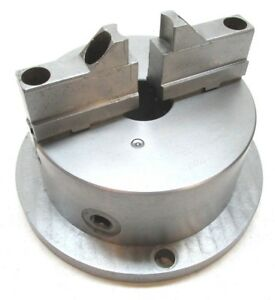 Bison 6 Two jaw Lathe Chuck W Milling Machine Mounting Plate Base