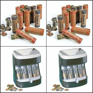 Automatic Machine Motorized Coin Counter Sorter Change Money Roller Wrappers