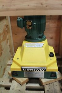 New Lightnin Series 10 Medium Top Entering 1 Hp 34 Rpm Closed Tank Mixer