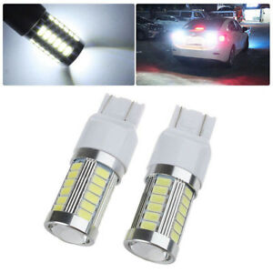 2x T20 Led 7440 7443 33smd Strobe Led Bulb Car Brake Reverse Drl Fog Light Lamp