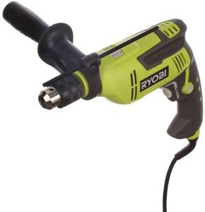 Ryobi Hammer Drill 1 2 In 6 2 Amp Variable Speed Lock on Trigger Button