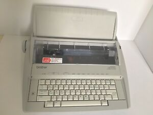 Brother Gx 6750 Portable Electronic Typewriter W keyboard Cover Tested Working