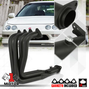 Black Painted 4 1 Exhaust Header Manifold For Integra Gsr civic Si B18 Dc1 Dc2