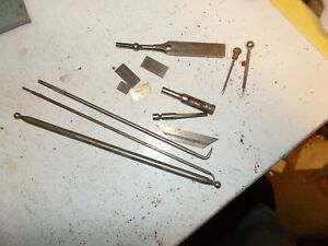 Ls Starrett 212 And Dial Test Indicator Parts Lot And More Threaded Rods Scribes
