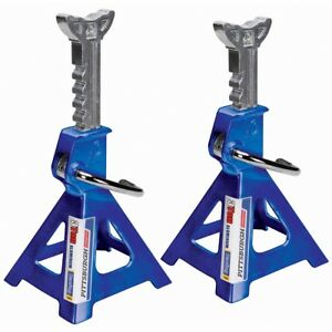 Aluminum Jack Stands Lightweight Self Locking Ratchet Handle 3 Ton