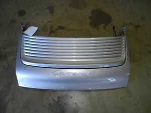 99 Porsche 911 996 C4 Convertible Rear Trunk Engine Cover Lid Silver Assy