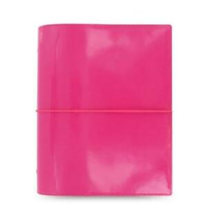 Filofax A5 Size Domino Patent Organiser Planner Notebook Diary Hot Pink 022482