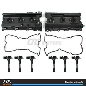 Valve Cover W Gaskets Ignition Coil For 05 17 Nissan Frontier Pathfinder Xterra