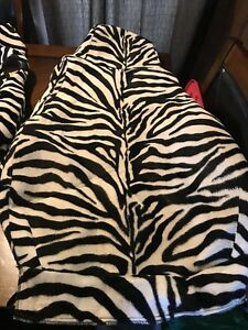 7 Piece Jeep Seat Covers White Black Zebra Print With Carry Bag