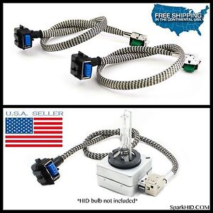 New Xenon Ballast To D1s D3s Hid Light Bulbs Wire Cable Cord Plug Hook Up Wiring