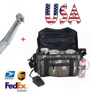 Portable Dental Turbine Unit Air Compressor Suction System Bag Syringe Handpiece