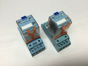 Lot Of 2 Releco C4 a40fx Power Relay 4pdt Coil Voltage 24vdc Rating 10a 120v