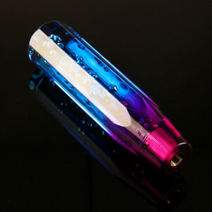 Universal Shifter Gear Crystal Air Bubble Shift Knob Purple And Blue 10cm Hn8