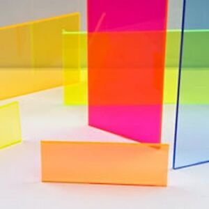 118 3 0mm X 24 X 48 Yellow Fluorescent Acrylic Sheet