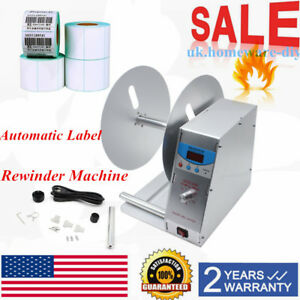 Automatic Label Tags Rewinder Rewinding Machine Industry Electric Labeling Us