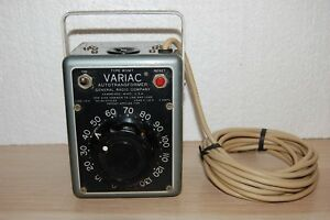 Variac Autotransformer General Radio Company Type W5mt