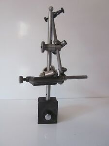 Starrett Magnetic Base Indicator Holder 657 W clamp 4 Attachments