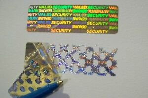 1400 Security Yellow Svag Hologram Warranty Label Stickers Tamper Evident Seals