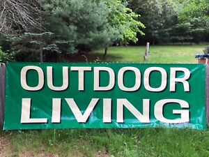 Outdoor Living Vinyl Banner Sign To Hang At Your Backyard Party 12 X 4