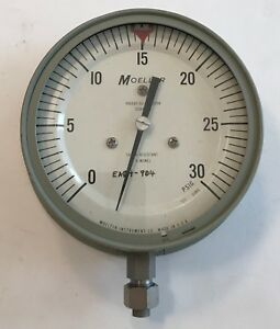 Moeller Sgb4m1n 4 1 2 30 Psig Pressure Gauge new Old Stock free Shipping
