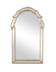 Labarge La Barge Italian Hollywood Regency Silver Leafed Mirror 24 X 43