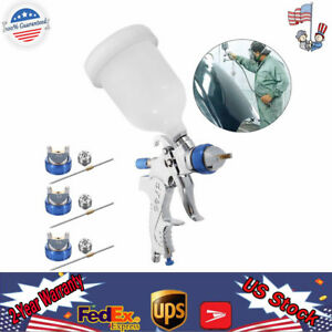 High Quality Air Spray Gun Hvlp Kit Nozzle Set 600cc Cup Mesh Filter Usa Well