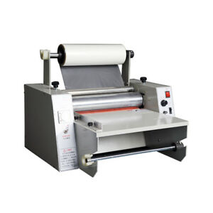 110v 14 Hot Roll Laminating Machine Hot Cold Laminator Roll Laminating Machine