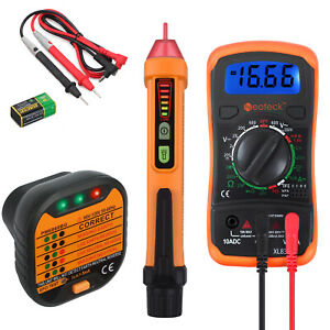 Digital Electrical Lcd Non contact Pen Multimeter Voltage Tester Socket Tester