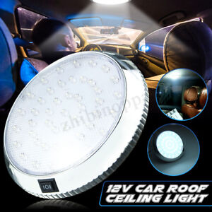 Universal 46 Led 3w Car Interior Roof Ceiling Dome White Light Reading Lamp Us