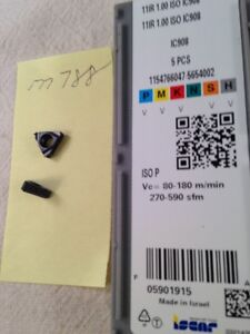 5 New Iscar 11ir 1 00 Iso Threading Carbide Inserts Grade Ic908 m788