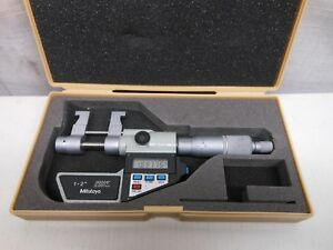 Mitutoyo 345 712 Inside 1 2 Digital Micrometer Inch Metric Ratchet W Box Nice