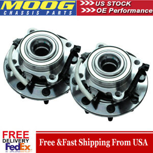 Moog 2 New Front Wheel Bearing And Hub Assembly Set Chevy Gmc 4x4 Truck S Abs