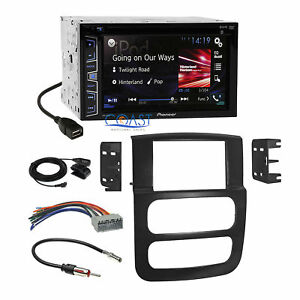 Pioneer 2016 Dvd Bluetooth Stereo Dash Kit Harness For 2002 05 Dodge Ram Truck