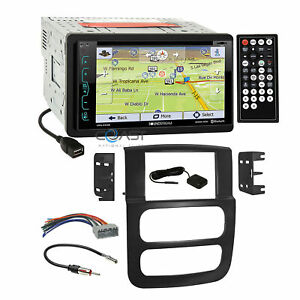 Soundstream Gps Bluetooth Stereo Dash Kit Harness For 2002 05 Dodge Ram Truck