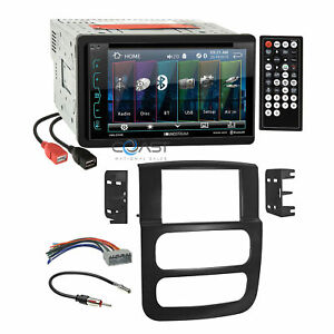 Soundstream Dvd Bluetooth Stereo Dash Kit Harness For 02 05 Dodge Ram Truck