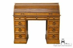 Sligh Furniture Solid Oak Country French 46 Ladies Writing Roll Top Desk