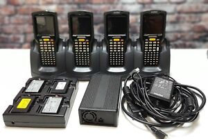 4 Motorola symbol Mc3000 Barcode Scanner W charge Dock 4 Ex Battery W charger