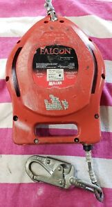 Miller Falcon Self retracting Lifeline Mp50g 50ft Used Galvanized Cable