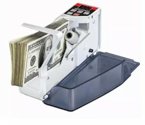 New Slim Money Bill Cash Counter Bank Machine Count Currency Usd Digital