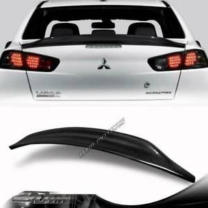 For 2008 2015 Mitsubishi Lancer Evolution Evo 10 Carbon Fiber Trunk Spoiler Wing