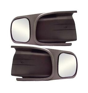 Cipa Mirrors Custom Towing Abs Plastic Black Manual Dodge Ram 1500 2500 3500