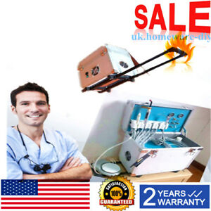 Dental Portable Delivery Unit Rolling Case curing Light ultrasonic Scaler 4 Hole