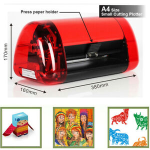 Mini Sticker Cutter A4 Vinyl Cutter Plotter Cutting Machine Contour Cut Function