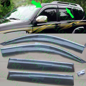 4pcs Car Window Rain Eyebrow Trims For Toyota Land Cruiser Prado Lc120 2003 2009