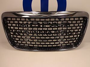 12 14 Chrysler 300 New Gloss Black Chrome Front Grille Mopar Factory Oem