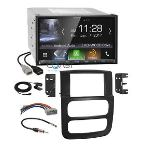 Kenwood Carplay Bluetooth Hd Stereo Dash Kit Harness For 02 05 Dodge Ram Truck