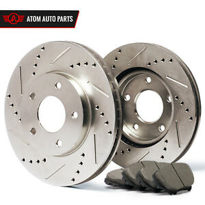 2011 2012 Honda Accord Ex Ex L Slotted Drilled Rotor Ceramic Pads Front